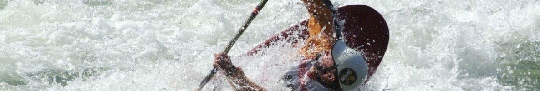 kayaker at Chili Bar hole